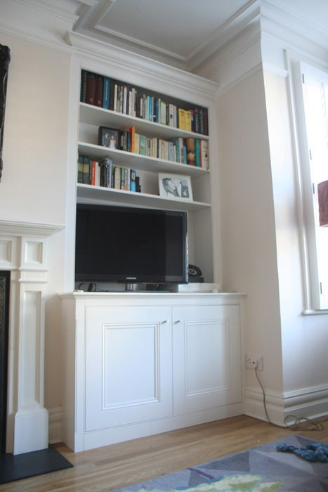 Spaced In Alcove Units  shelves  Living room shelves Dining room shelves Alcove cupboards