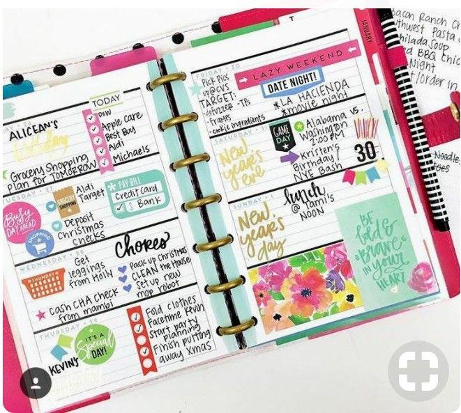 Pin By Tashina Hunziker On Happy Planner Happy Planner Layout