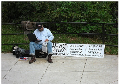 articles connected with homeless veterans