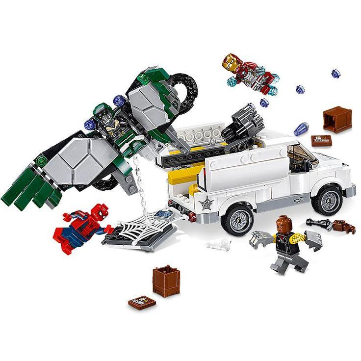 lego spiderman, lego ironman, lego superheros, minifigures, lego vulture, lego the shocker