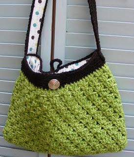Quilted Cupcake: Easy Crocheted Bag
