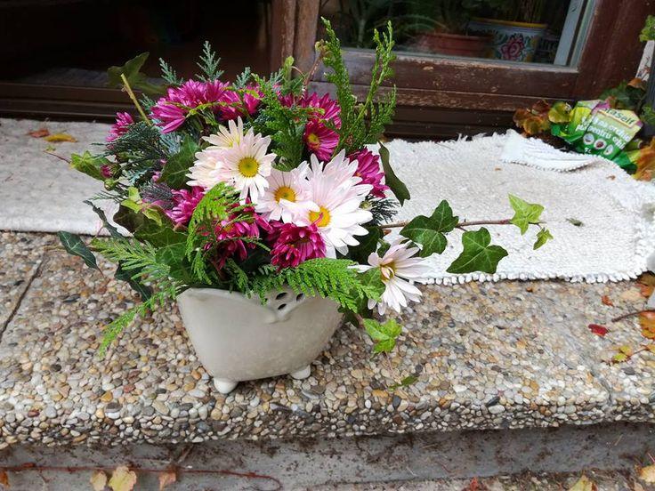 jesenna kytica, živé kvety