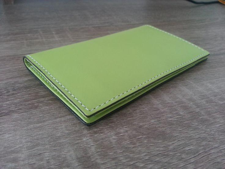Porte-cartes Hurbane - Cuir Vert Opal
