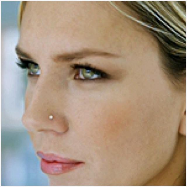 Nose piercing...