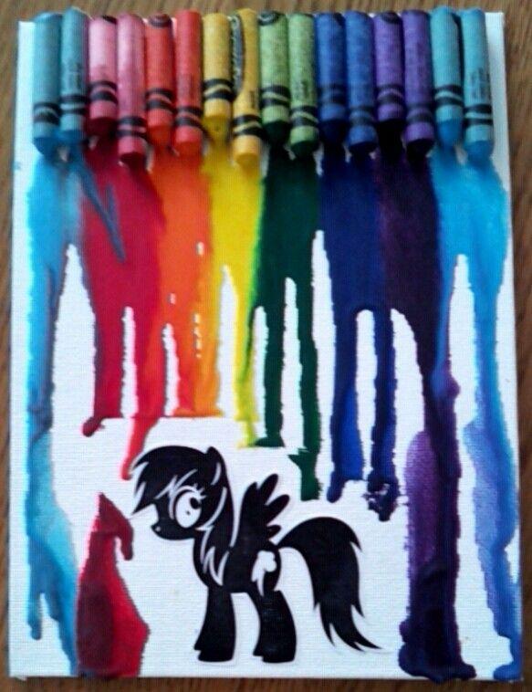 Rainbow Dash crayon art