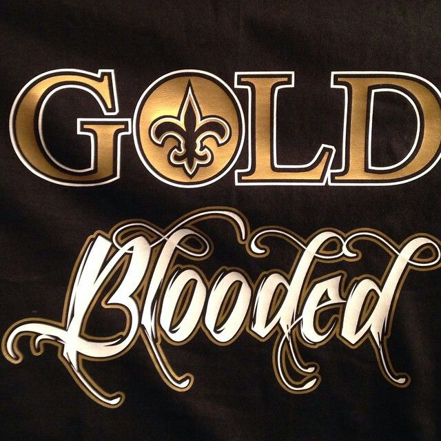 Gold Blooded. New Orleans Saints https://www.fanprint.com/licenses/new-orleans-saints?ref=5750