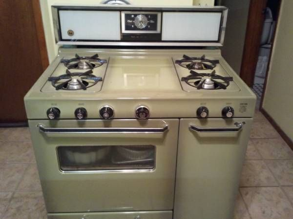 Magee Gas and Gas Stove  Lovely Avocado Green | Glenwood and