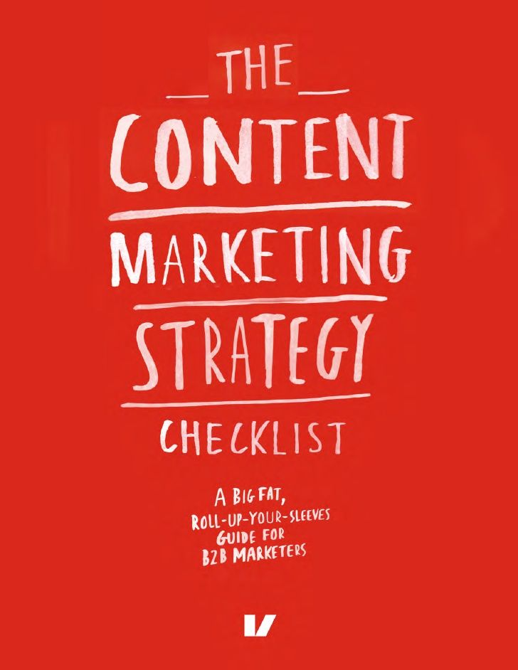 The Content Marketing Strategy Checklist sample by Velocity Partners via slideshare