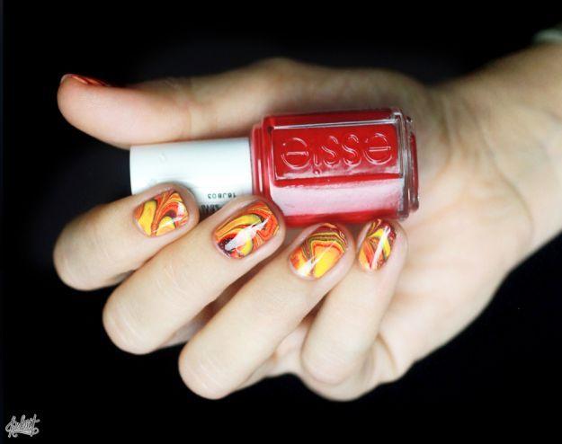 Водный маникюр в ярких тонах ::: onelady.ru ::: #nail #nails #nailart #manicure