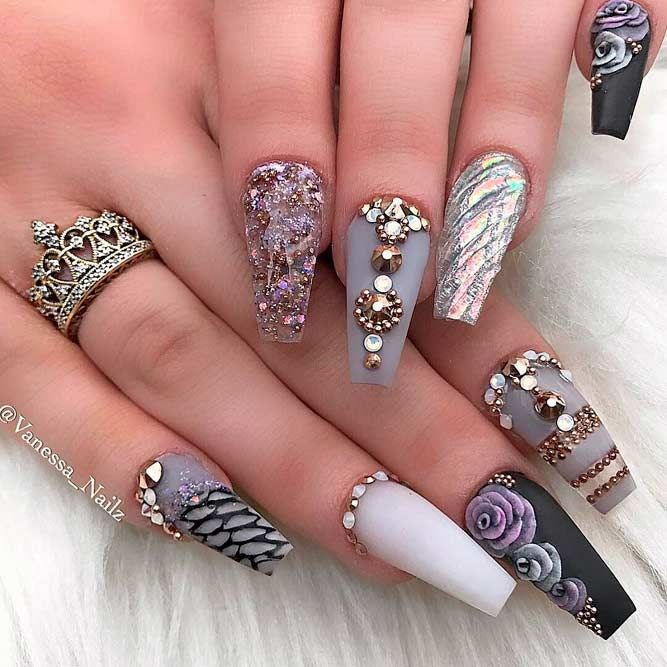 70 Most Beautiful 3d Nail Art Design Ideas For Trendy Girls: Examples Of Beautiful Long Nails To Inspire You