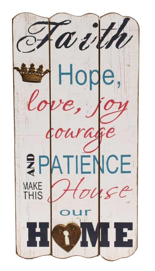 Sign - Faith in Home $25