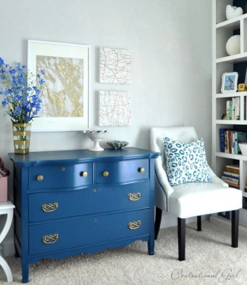 17 best images about refinishing furniture on pinterest for Navy blue painted furniture