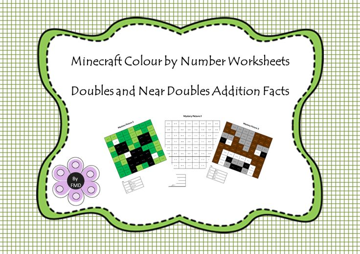 Minecraft - Doubles and Near Doubles Addition Facts