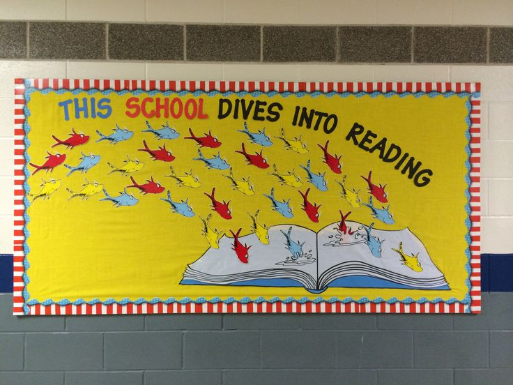 My husband helped me create this for my bulletin board that is on the outside of my classroom. I just love it!
