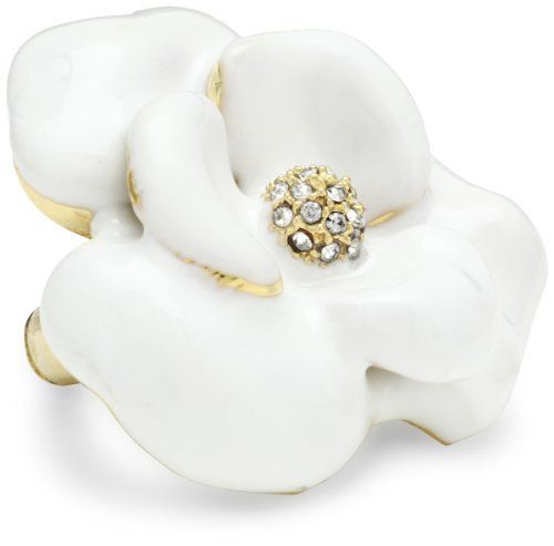 Beyond Rings Cubic Zirconia Stretch White Enamel Flower Ring Beyond Rings. $28.99. With crystal Cubic Zirconia. Stretch enamel flower ring with Cubic Zirconia. Made in China. Hand-painted white enamel. Save 47% Off!