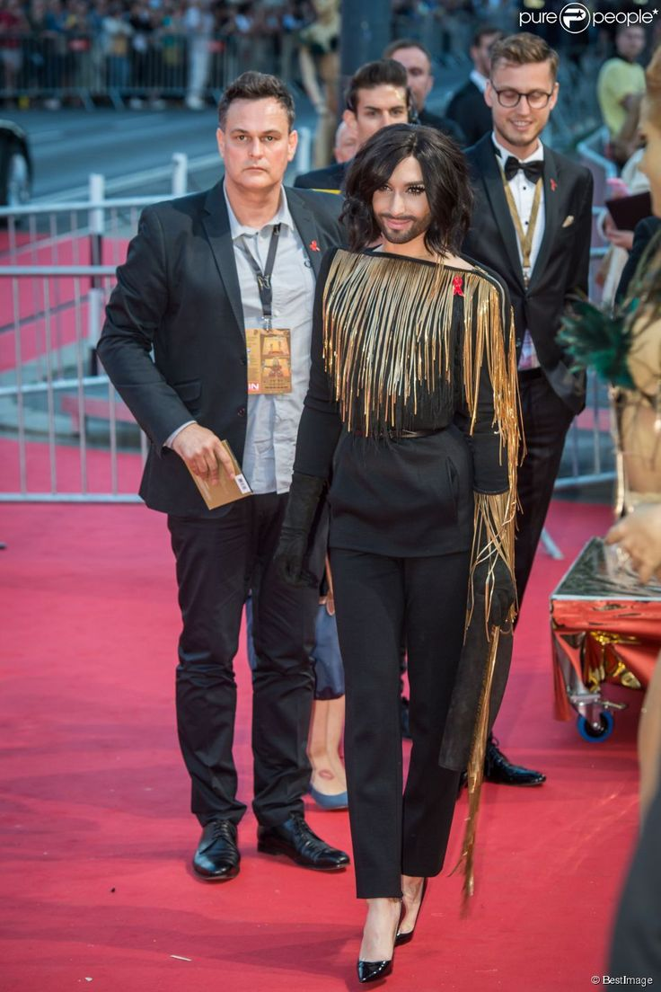 Conchita wurst and dana international in eurovision first star - Photos Dana International Lors Du Life Ball 2015 Vienne Le 16 Mai 2015 Conchita Wurst