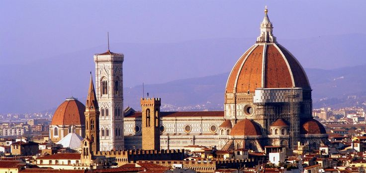 """Florence, """"Cattedrale di Santa Maria del Fiore"""" and  """"Campanile di Giotto""""."""