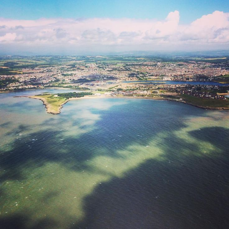 """Hey gorgeous Wales, I am back. Doesn't the island look splendid from above? #Barry #uk #wales #beaches #barryisland"""