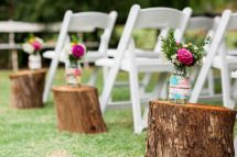 Isle ceremony idea - Our rustic DIY backyard wedding - Mornington Peninsula - by Ink Hearts Paper www.inkheartspaper.com.au