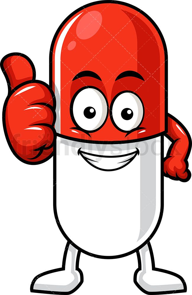 Capsule Pill Character Thumbs Up Cartoon Clipart Vector Friendlystock In 2020 Cartoon Clip Art Thumbs Up Drawing Cute Sketches