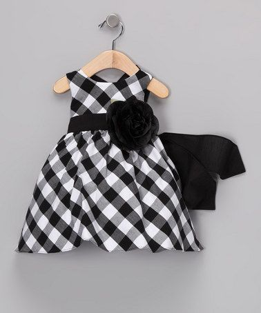 Take a look at this Black Gingham Dress - Infant, Toddler & Girls by Sweá Pea & Lilli on #zulily today!