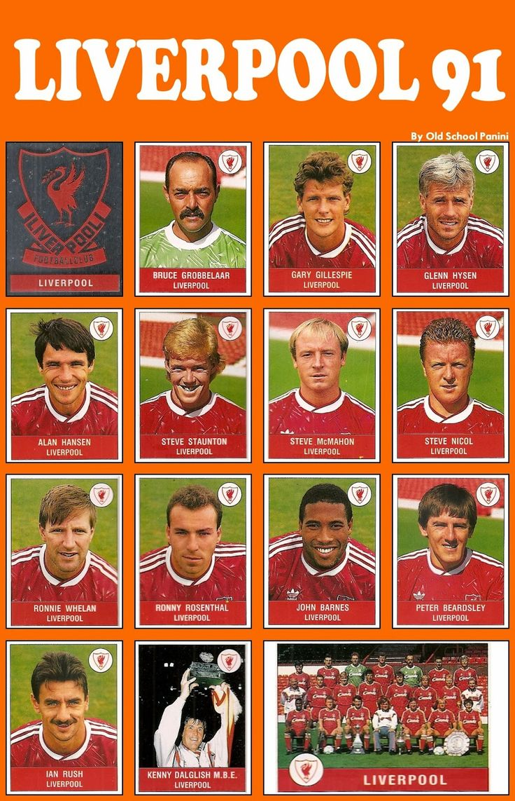 The Liverpool FC squad 1990-91 #LFC #transition #endofanera
