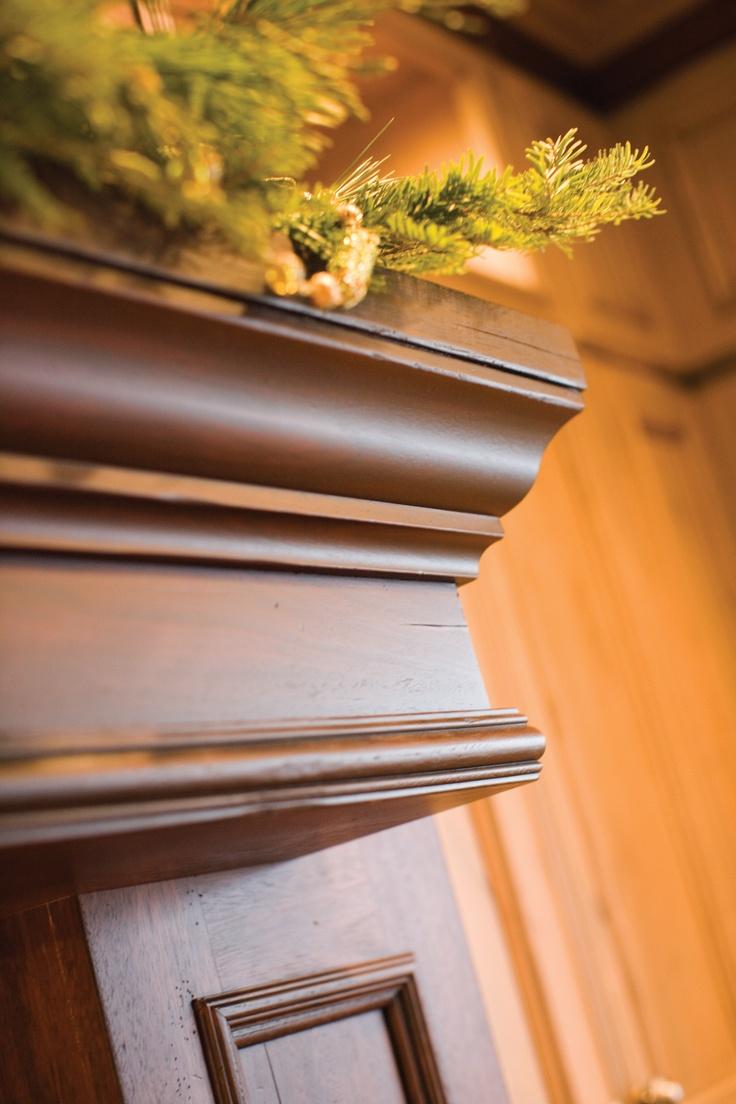 Christmas Fireplace Mantel/ Mantel Wood Hood Decor