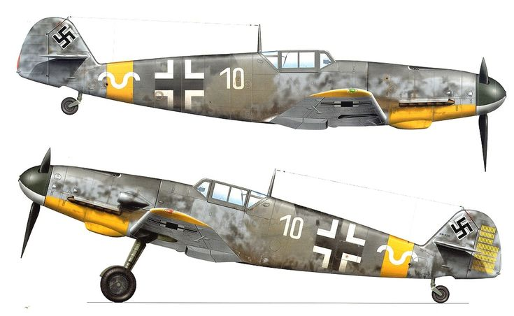 messerschmitt bf 109 coloring pages - photo#45