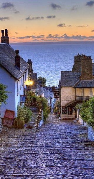 Clovelly, England Devon. No cars, donkeys transport everything. Another world