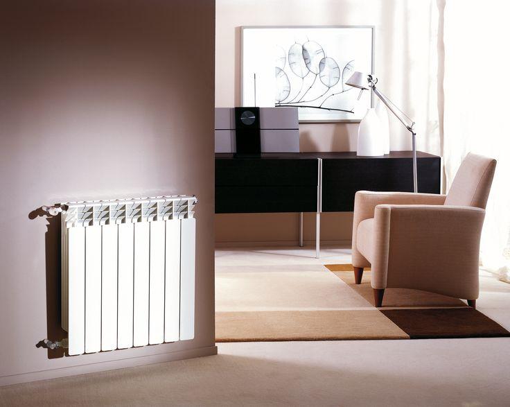 Radiadores, calefacción por agua caliente.