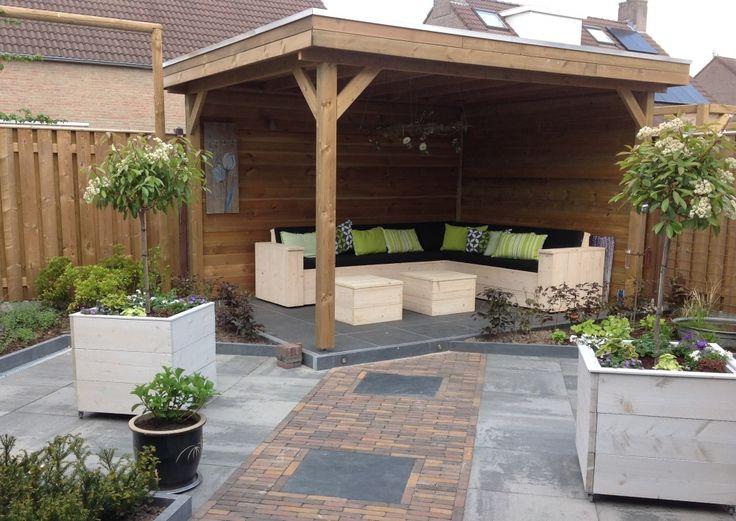 Houten overkapping bouwtekening google zoeken tuin for Ideeen voor tuin