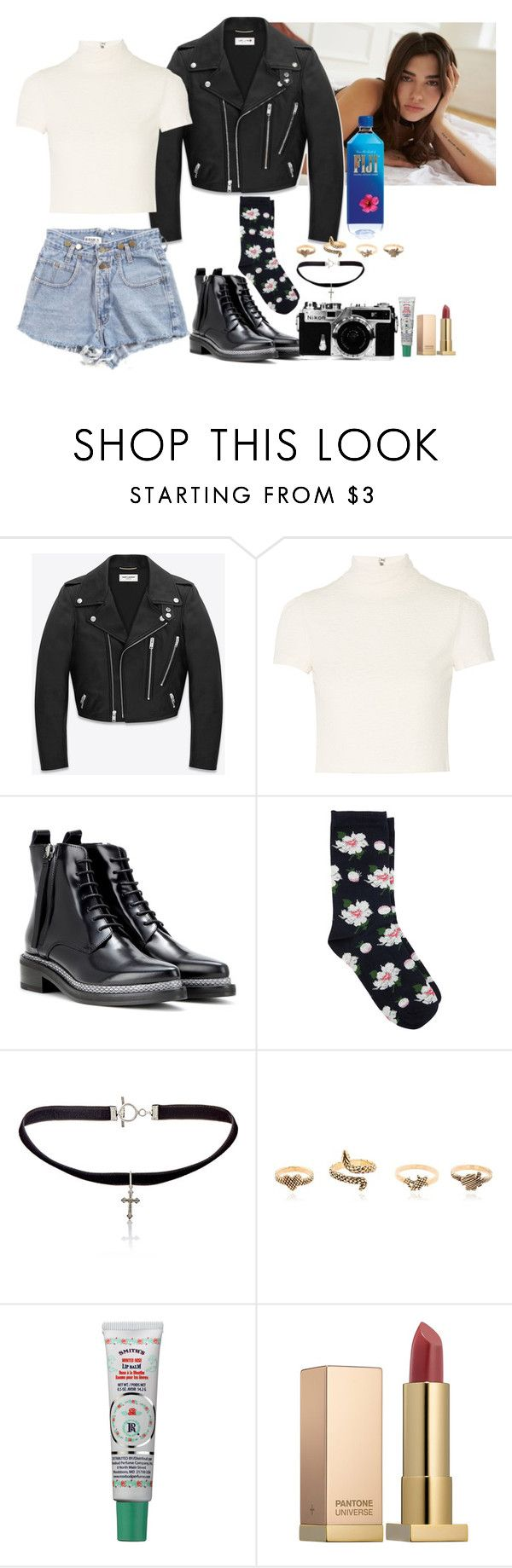 """Dua Lipa Concert 💓"" by imimidoll ❤ liked on Polyvore featuring Yves Saint Laurent, Alice + Olivia, Acne Studios, Oasis, Nikon and Sephora Collection"