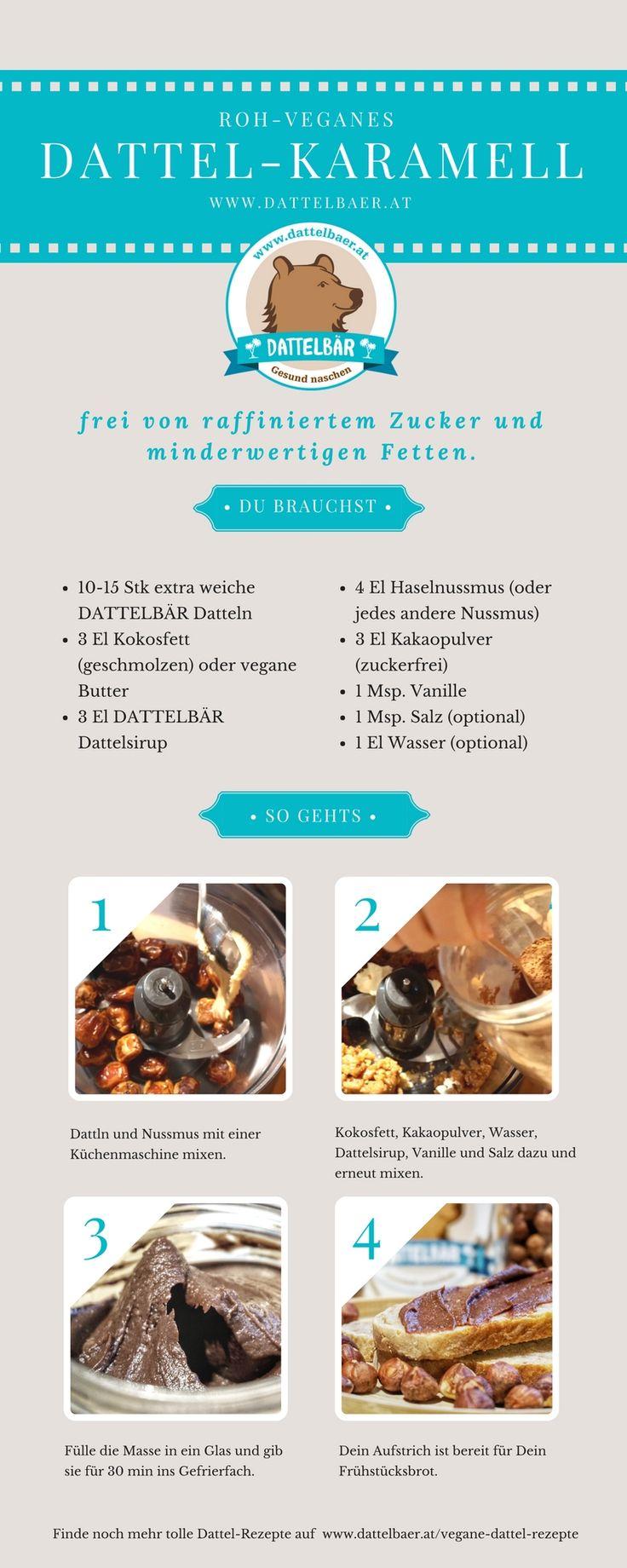Dattel-Karamell-Aufstrich: Dattella - Dattelbär´s Webshop - frische Rohkost Datteln kaufen - gesund naschen