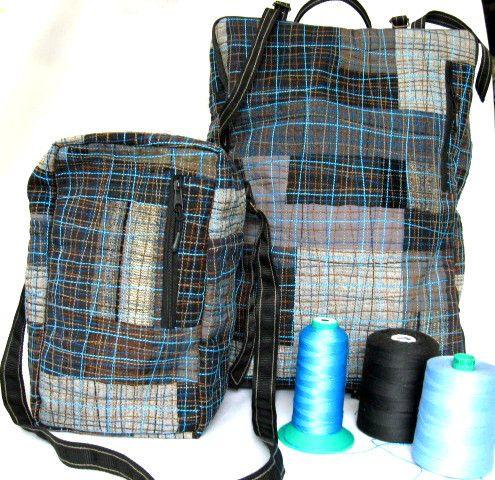 Zestaw plecak i torba – podręczny bagaż lotniczy   w andrysiakpatchwork na DaWanda.com