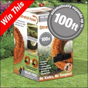 Here at Stretch Hose we know our fantastic product is in vast demand, which is why we thought we would be extra generous and offer one of our lucky readers the chance to win our 100ft Stretch Hose.