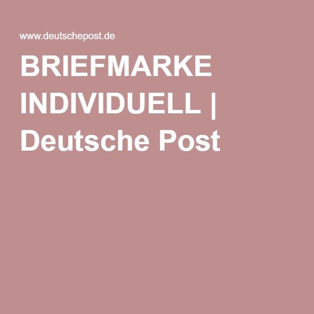 BRIEFMARKE INDIVIDUELL | Deutsche Post