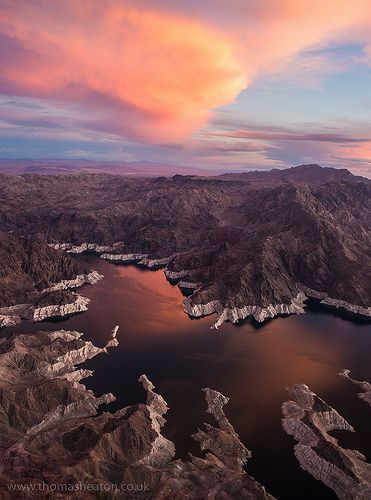 Sunset Over Lake Mead, Nevada. by Thomas Heaton