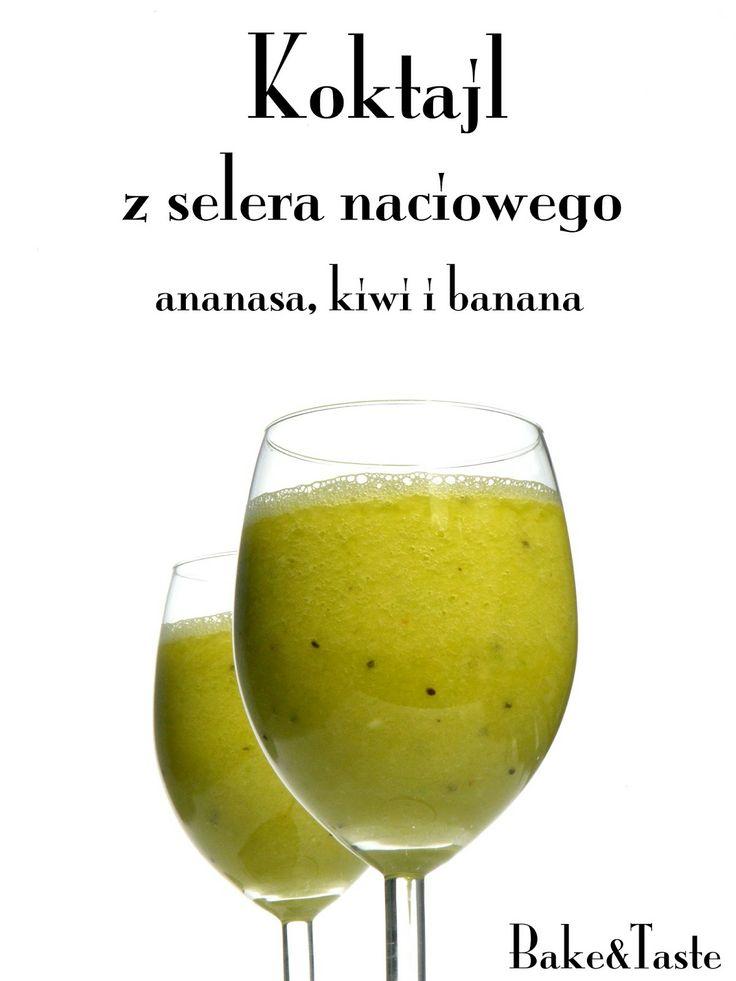 koktajl z selera naciowego, ananasa, kiwi i banana