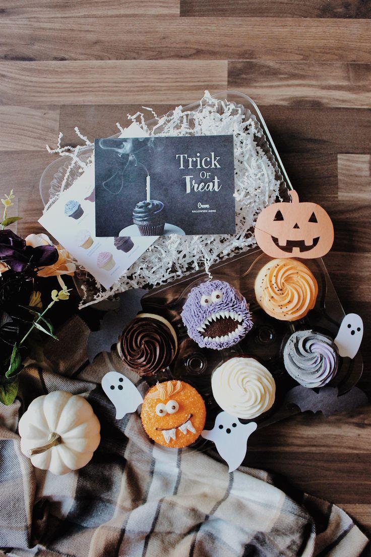 ↠ instagram: @jessienuqui // happy halloween to you guys!  #cupcakes #halloweencupcakes #treats #food #sweets #halloween #fall