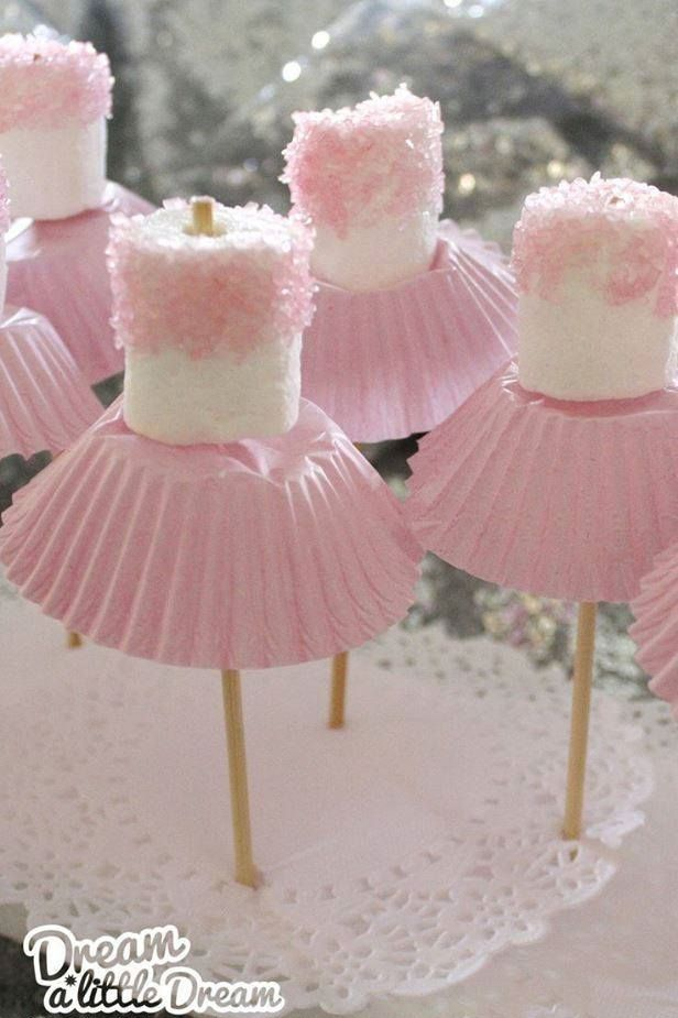These Marshmallow Ballerinas are So Cute, Adorable and Easy - http://www.stylishboard.com/these-marshmallow-ballerinas-are-so-cute-adorable-and-easy/