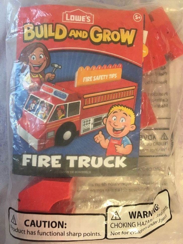 Lowes Build and Grow Fire Truck Kit  NEW in package- Build and Play #Lowes