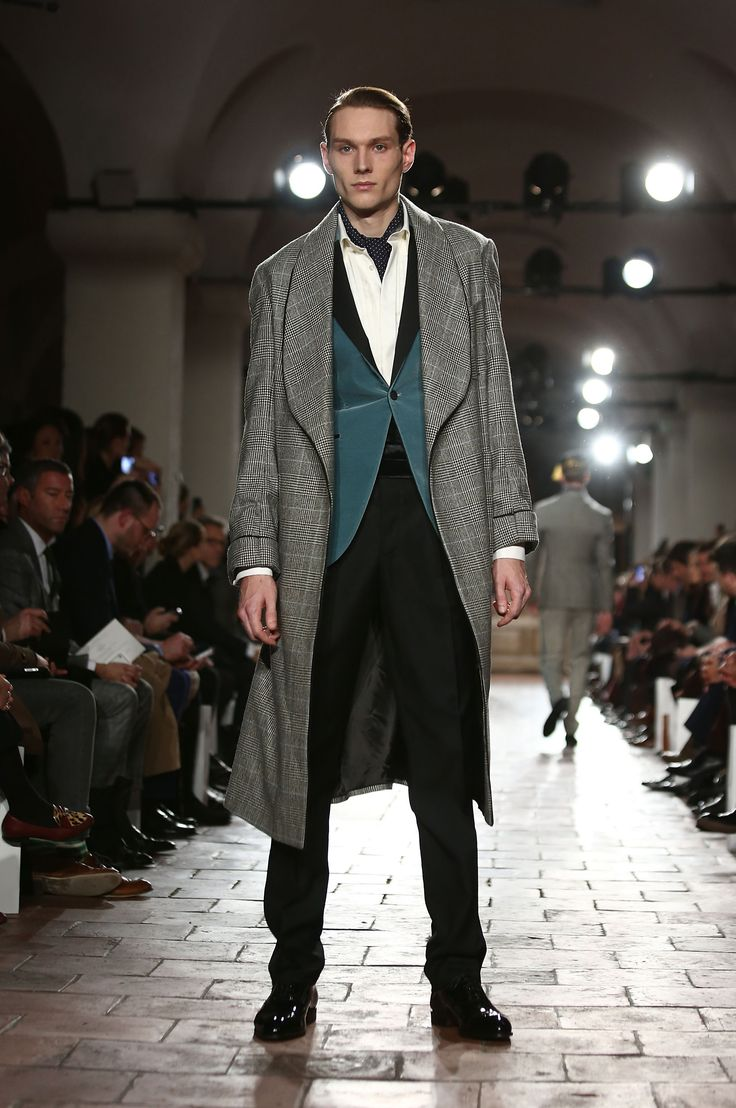 Clumps of wood hit runway at Topman fashion show