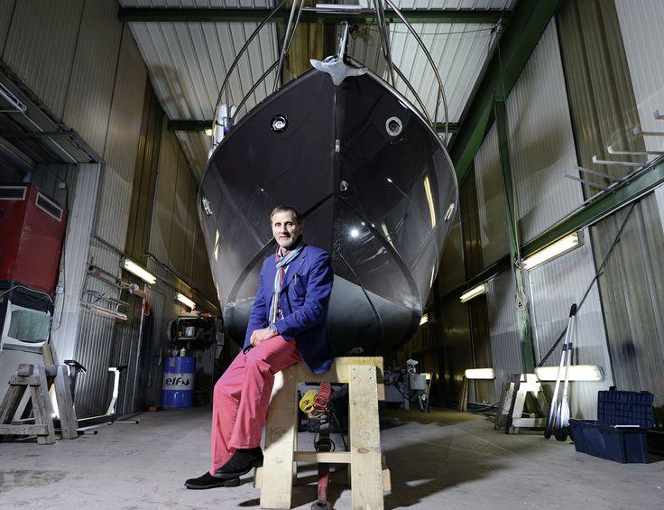 Pronaval, dans le sillage du succès. Luc Simon, architecte naval, CEO du chantier naval de Corsier. © Thierry Parel