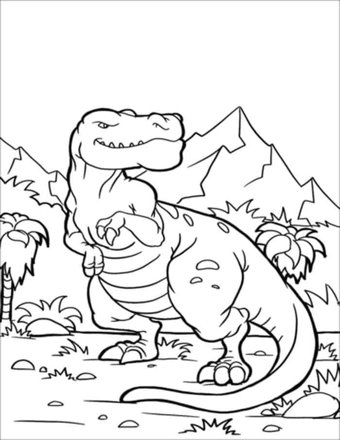 malvorlagen dinosaurier t rex mod - tiffanylovesbooks