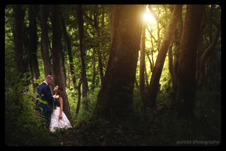 #wedding #afterwedding #groom #bride #forest #light #γαμος