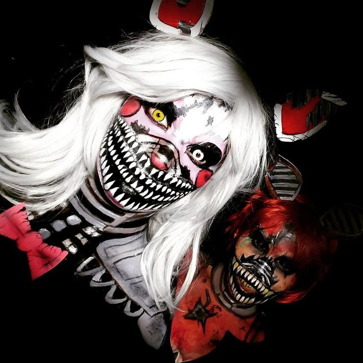 Nightmare Mangle and Foxy From Five Nights at Freddy's makeup & costume effect ideas by Adnarimification. Great look for cosplay or Halloween.