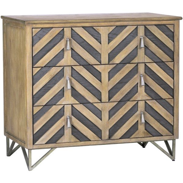 Gabby Gertrude Chevron Chest (1,590 CAD) ❤ liked on Polyvore featuring home, furniture, storage & shelves, dressers, oak dressers, drawer dresser, chevron furniture, drawer furniture and oakwood furniture
