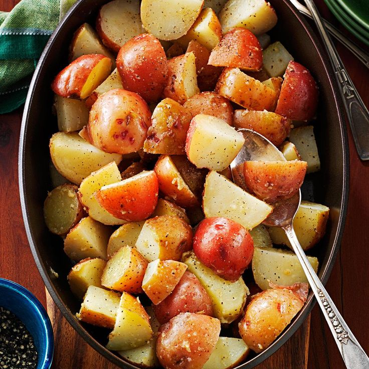 Browned Butter Red Potatoes Recipe -I've been making my version of Dad's potatoes for years, and it goes great with any meal. Browning the butter gives the potatoes a whole new taste. —Anne Pavelak, Endicott, Washington