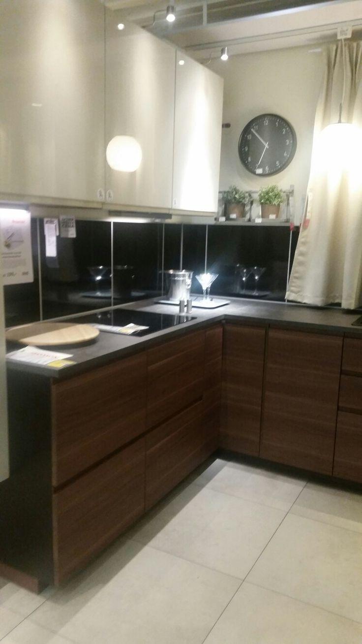 Kitchen Cabinets Ikea Stove Fan Voxtorp | Kuchnie Pinterest Kitchens, Pine ...