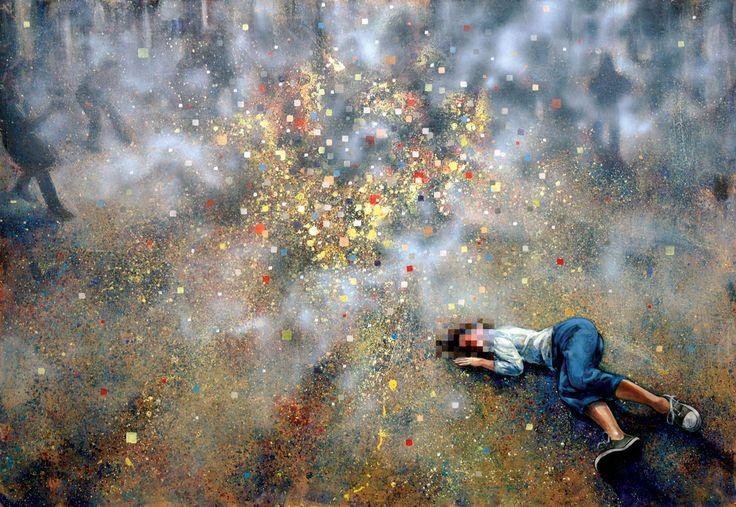 """""""New(s) Paintings"""", Arabska Wiosna w krajach Bliskiego Wschodu i Afryki Północnej / styczeń 2011 #art #painting #revolution #cyberculture"""